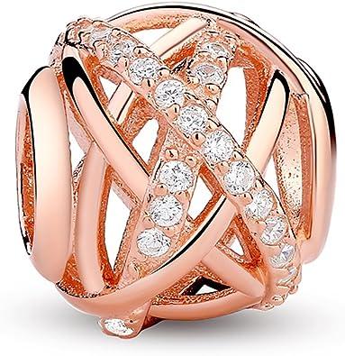 charm argent et rose gold pandora