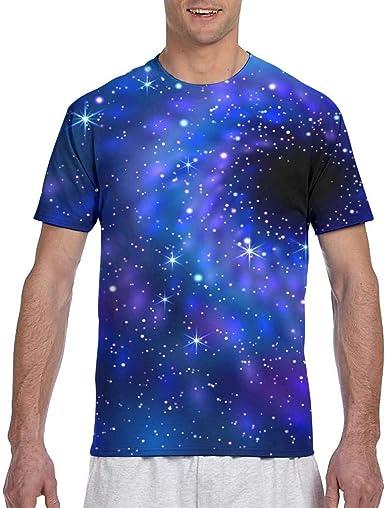 Zhgrong Camisetas para Hombre Black Hole Space Camiseta de algodón ...