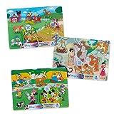 Melissa & Doug Wooden Peg Jungle Book/Farm/Pets Puzzle (8 Piece)