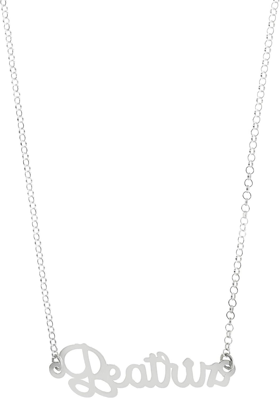 Córdoba Jewels | Gargantilla de Plata de Ley con diseño Beatriz Silver de 35x10mm.Largo 40cm.con Cadena para Ajustar.