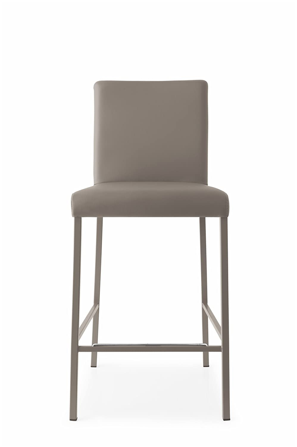 Amazon com connubia garda bar stool metal stained matt taupe frame ekos taupe seat kitchen dining