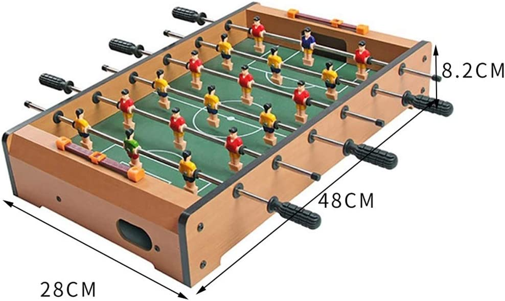 Futbolines Medio Fooseballs Mesa De Seis Golpes Foozeballs Mesa De Futbolín Bolas Máquina El Fútbol Niño Futbolín (Color : Wood Color, Size : 48 * 28 * 8.2cm): Amazon.es: Hogar
