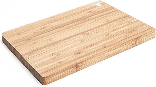 Licok Organic Bamboo Chopping Board(Cutting Board) in End Grain   35 x 24 x 2.5cm   Best for Meat (Butcher Block) Cheese and Vegetables   Carving Board with Juice Groove