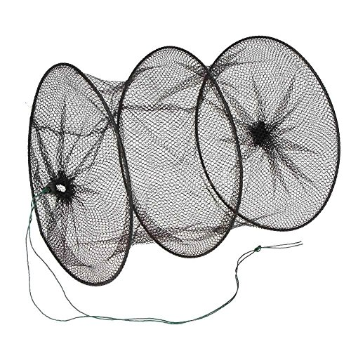 Fishing Net Cage for Small Fish Lobster Shrimp Collapsible Portable 2 Layers 29.5cm
