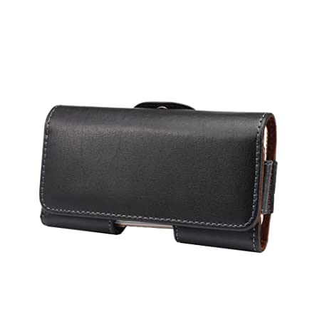 27cb34a71ddbc SITCO Universel Véritable en Cuir Taille Pack Cas de Téléphone Portable  Pochette Holster Étui Horizontal avec