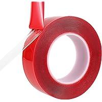 MeetRade Montage Tape Roll 1 ''25mm Clear Acryl Dubbelzijdige Zware Super Sticky Hittebestendige Zelfklevende…