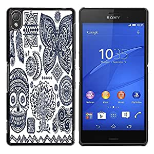 Dragon Case - FOR Sony Xperia Z3 - Beauty is but skin-deep - Caja protectora de pl??stico duro de la cubierta Dise?¡Ào Slim Fit