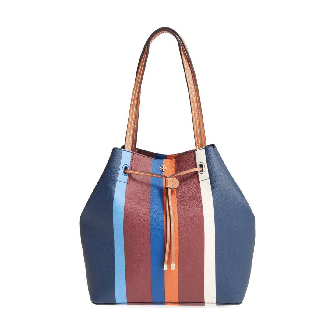 7f6ae7bbed0 Tory Burch Large Kerrington Stripe Bucket Bag  Amazon.ca  Shoes   Handbags