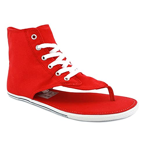 8c01191647a2 Converse All Star CT Thong Sandal Hi 522255 Womens Laced Canvas Sandals Red  - 3  Amazon.co.uk  Shoes   Bags