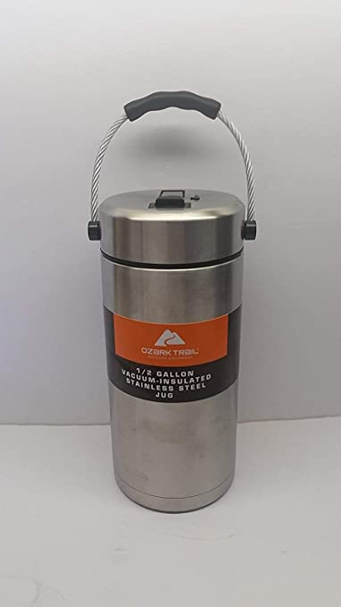 2 Pack Ozark Trail 1//2 Gallon Double-wall Vacuum-sealed Stainless Steel Water