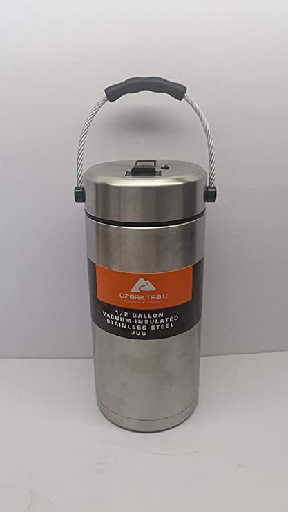 f43af12fa5a Ozark Trail 1/2 Gallon Vacuum Insulated Stainless Steel Tumbler/ Jug