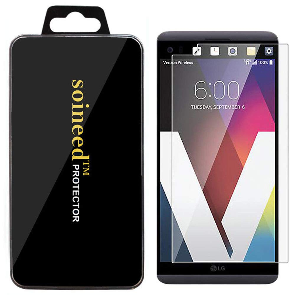 Soineed [1-Pack] for LG V20 Tempered Glass Screen Protector [9H Hardness] [Bubble Free] [Ultra-Clear] [Scratch Proof]