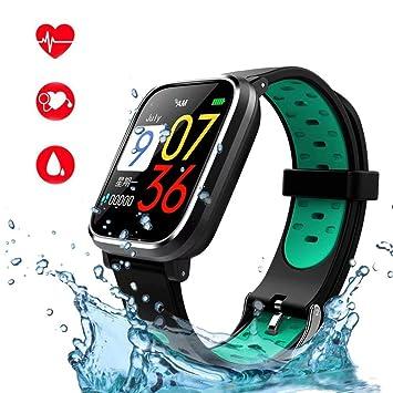 Reloj Inteligente, Smartwatch con Pulsómetro Impermeable ...