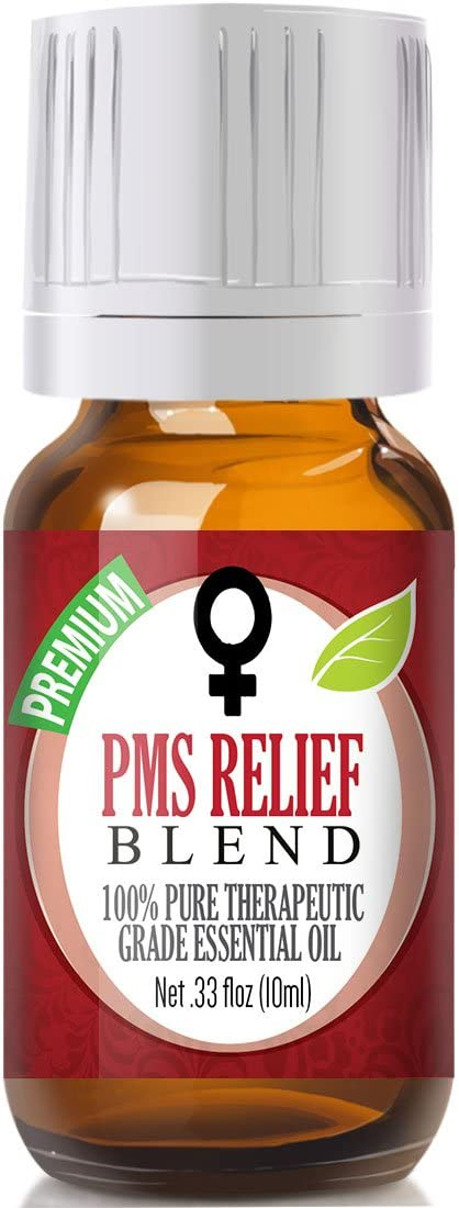 PMS Relief Blend Essential Oil - 100% Pure Therapeutic Grade PMS Relief Blend Oil - 10ml