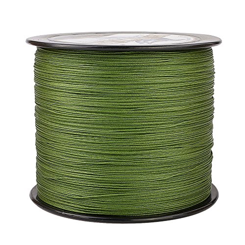 (HERCULES Super Cast 1000M 1094 Yards Braided Fishing Line 100 LB Test for Saltwater Freshwater PE Braid Fish Lines Superline 8 Strands - Army Green, 100LB (45.4KG), 0.55MM)