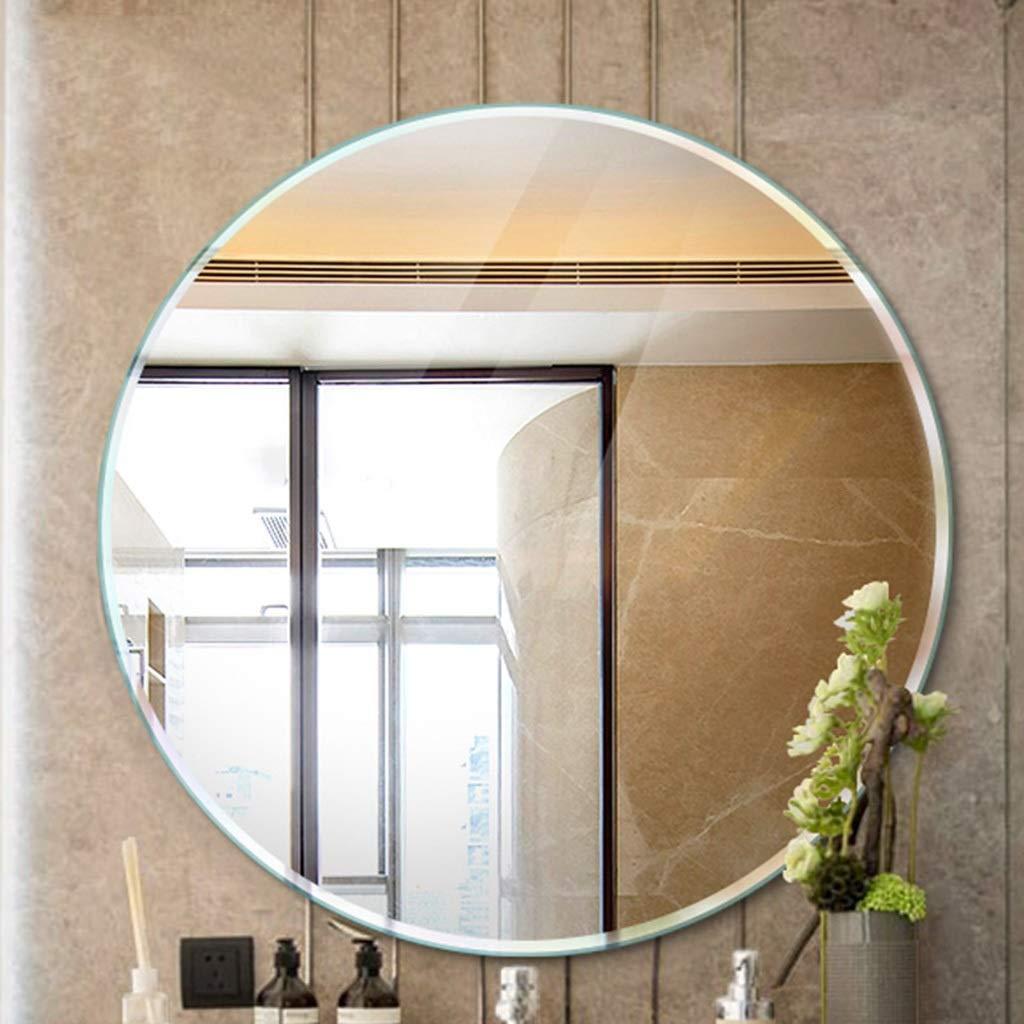 Wall Mounted Bathroom Mirror Size : 38cm Dressing Table Wash Mirror RXY-mirror Simple Frameless Round Bathroom Mirror