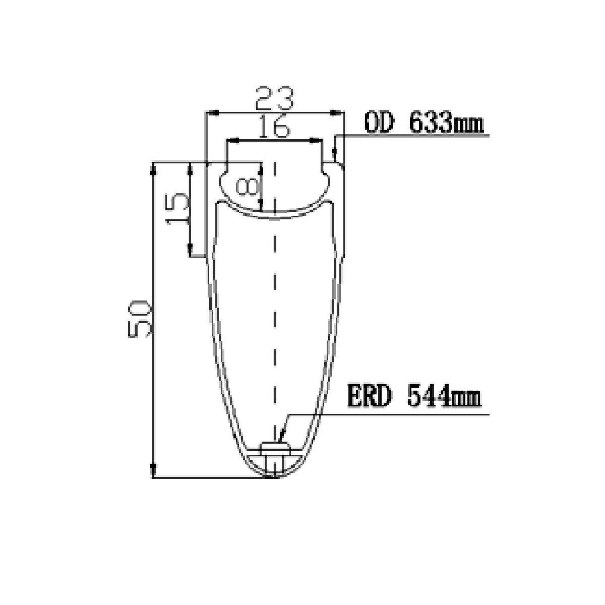 ICAN 50mm Carbon Rennrad Laufrad Set Drahtreifen 700C Sapim CX Ray Speichen Nur 1460g//set