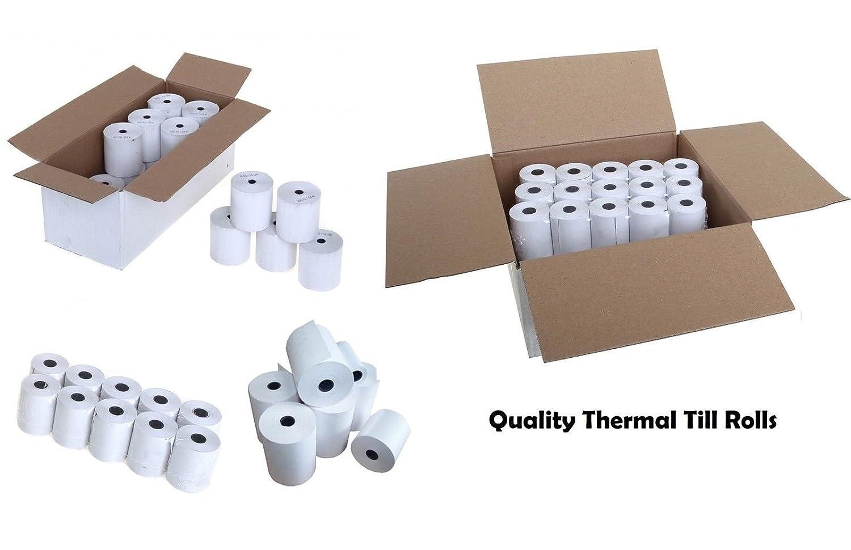 80 mm x 80 mm rotoli di carta termica per cassa rolls- Machine rotoli di carta, carta di credito, Pdq registratore di ricezione (20) Roll2Print
