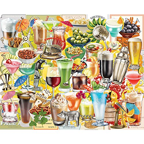 - Bits and Pieces - 500 Piece Jigsaw Puzzle for Adults - Happy Hour - 500 pc Cocktails Collage Jigsaw by Artist Rosiland Solomon