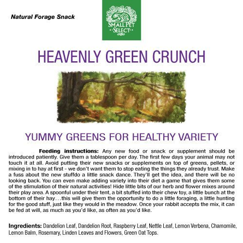 Small Pet Select - Heavenly Green Crunch Herbal Blend