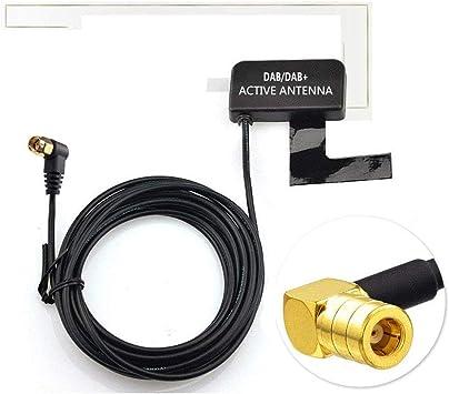 Moli Smart Dab Dab + Antena con Conector SMB para Parabrisas de Vidrio Compatible con Radio Digital Dab: Amazon.es: Electrónica