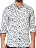 Maceoo Mens Designer Dress Shirt - Stylish & Trendy- White - Tailored Fit