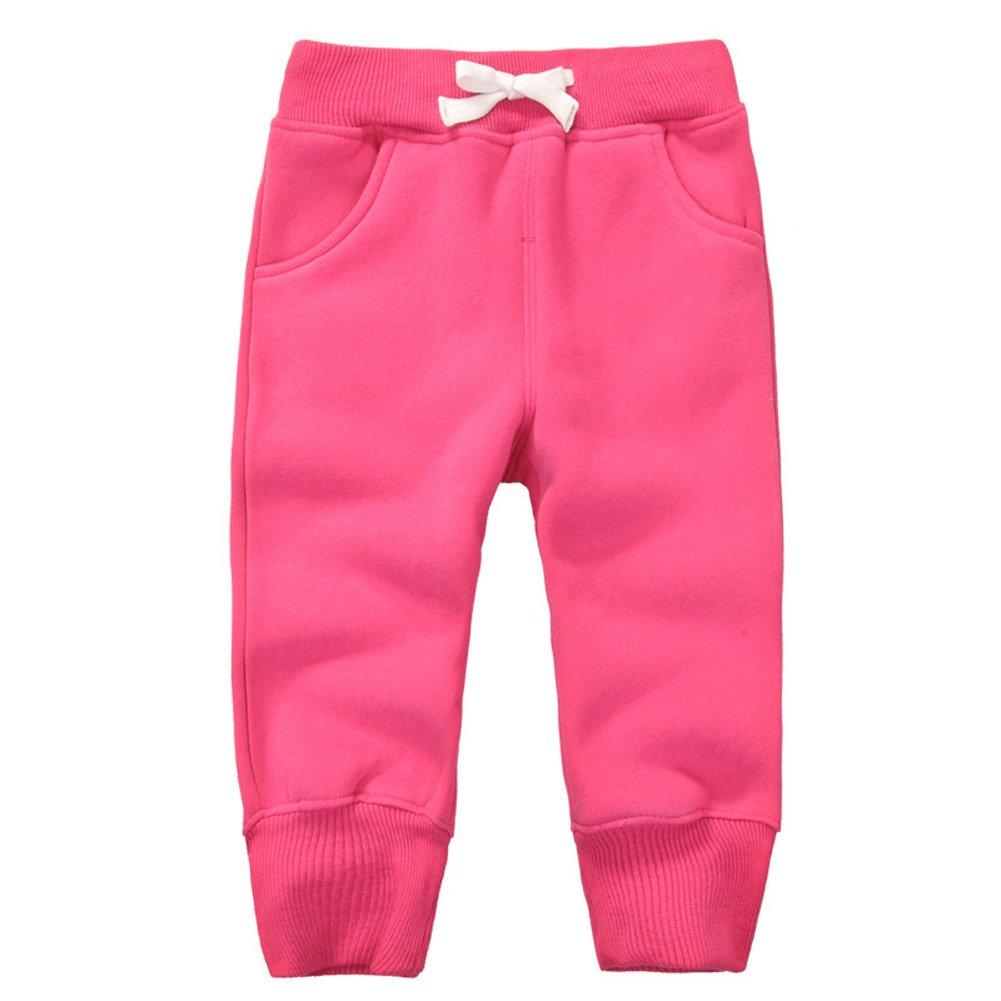 Casa Pantalon de Jogging Sport pour Enfant Garcon , en Coton Pantalons Jogging Elastique avec ceinture Bébé Trousers 1-5Ans