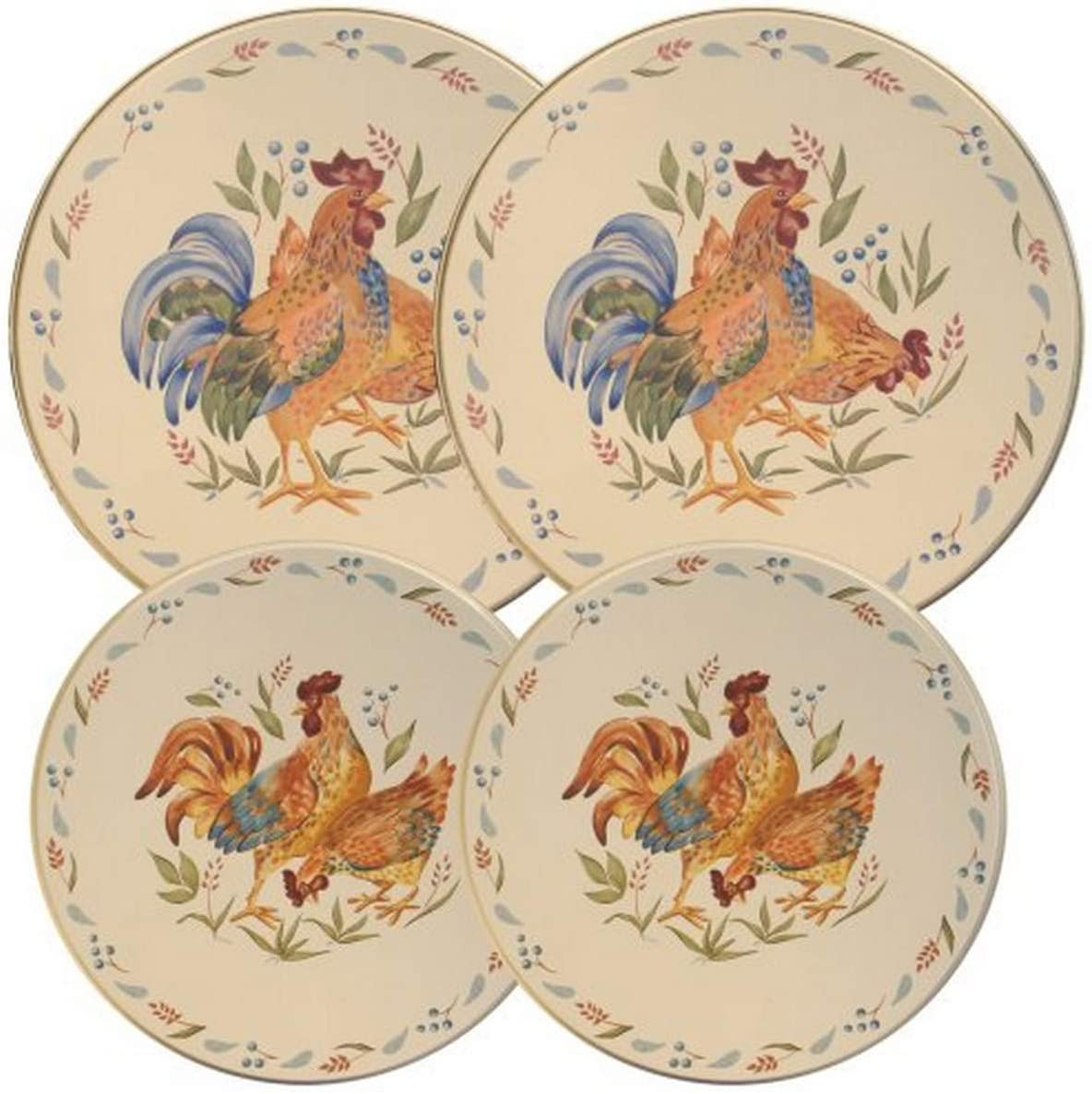 Corelle Coordinates by Reston Lloyd Electric Stovetop Burner Covers, Set of 4, Country Morning