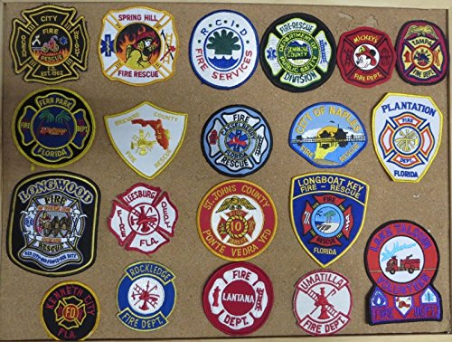 FLORIDA FIRE/RESCUE DEPARTMENT PATCHES! SET THREE! LOT OF 20!