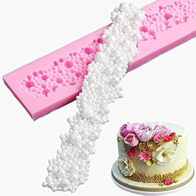 NiceButy Chocolate Moldes de silicona para decoraci/ón de tartas burbujas redondas fondant Juego de Moldes para hacer Golosinas dise/ño de perlas