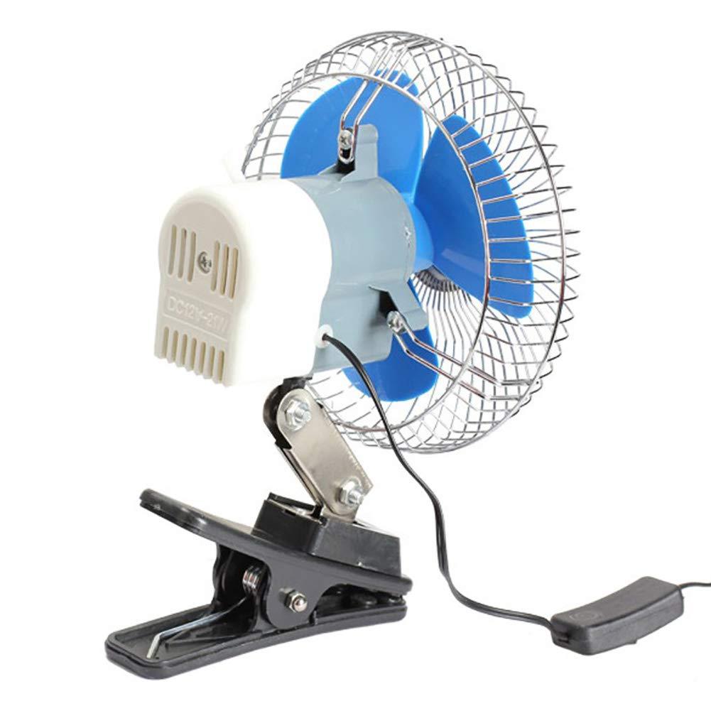 12//24 V Girevole Ventola di Raffreddamento con Clip a Basso Rumore zmigrapddn Mini Ventilatore Estivo per Auto