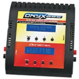 Duratrax Onyx 255 AC/DC  Dual Balancing Charger for LiPo / NiCd / NiMH Battery Packs with Standard, Star Plug, and Electrifly Balance Board Adapters and AC and DC Power Cords
