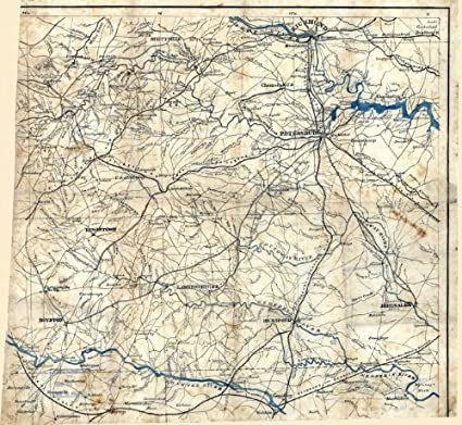 Central Virginia Map.Amazon Com Civil War Map Reprint South Central Virginia Showing