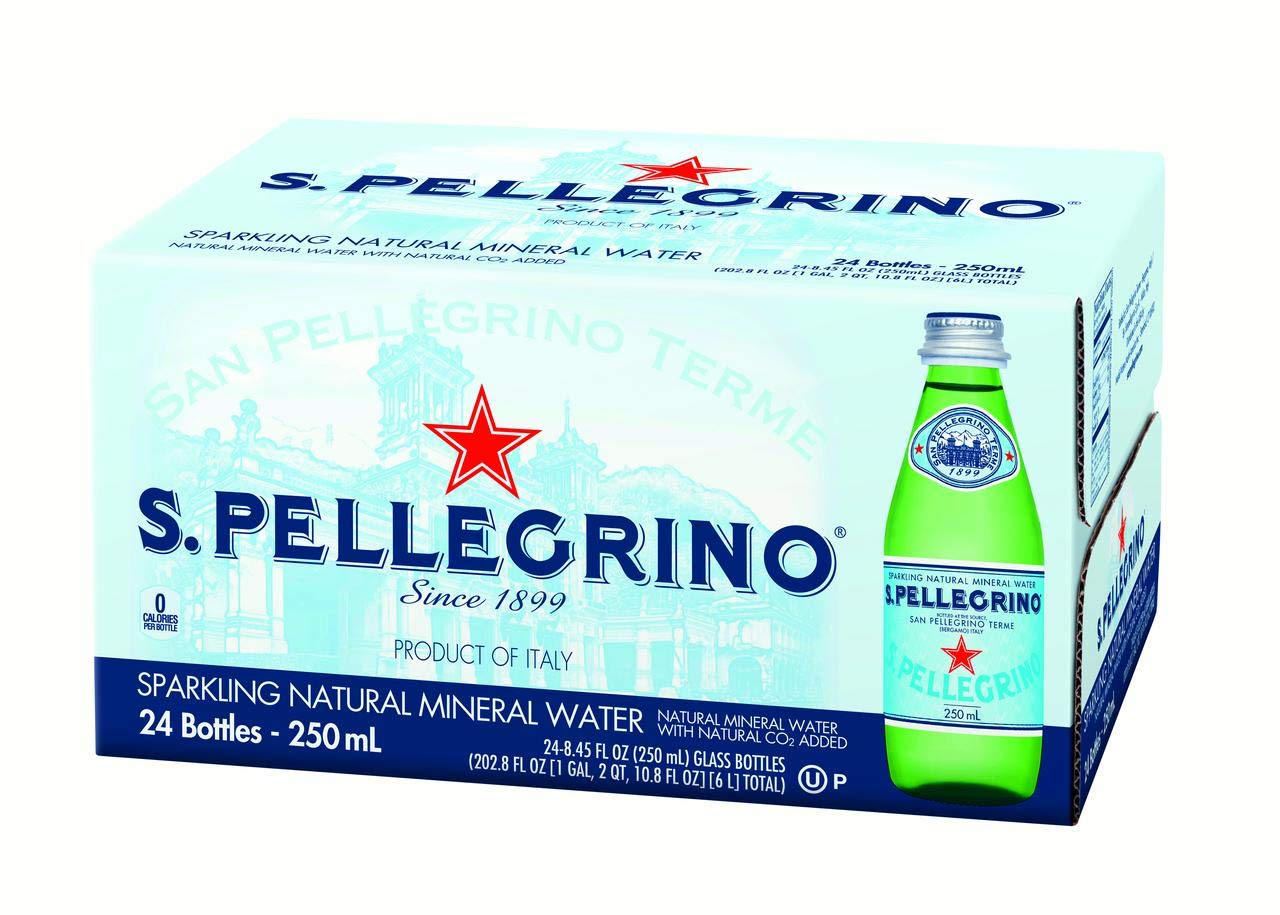 San Pellegrino Sparkling Mineral Water 8.45 oz. 6-Count (Pack of 4) by San Pellegrino