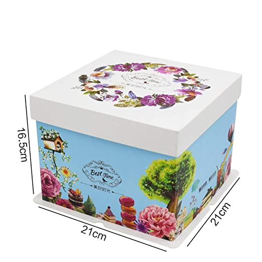 HDaiy Caja De Pastel Bosque Caja De Pastel De Cumpleaños ...