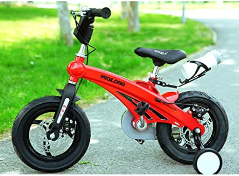 YQ Bicicleta De Bicicleta para Niños De Freestyle Boy para Niñas De Magnesio, 3 Colores, 12
