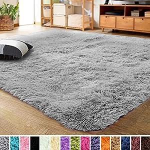 LOCHAS Ultra Soft Indoor Modern Area Rugs Fluffy Living Room Carpets for Children Bedroom Home Decor Nursery Rug 4×5.3…