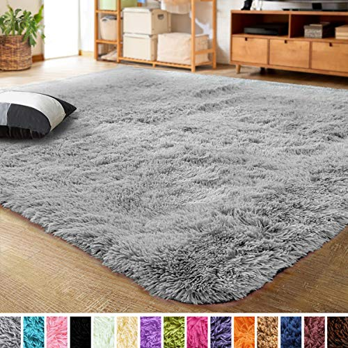 LOCHAS Ultra Soft Indoor Modern Area Rugs Fluffy Living Room Carpets for Children Bedroom Home Decor Nursery Rug 4x5.3… 1