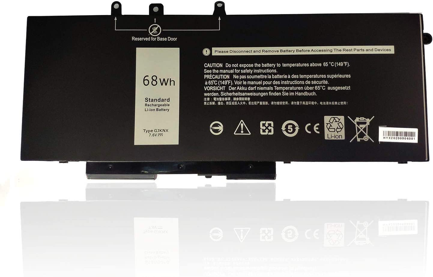 Ding New GJKNX Battery Compatible with Dell Precision 15 3520Latitude E5480 Latitude E5580 Latitude E5490 Latitude E5590 DELL Precision 15 3520(7.6V)
