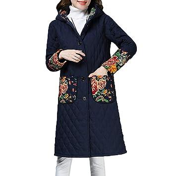 Abrigo Mujer Invierno Rebajas ZARLLE Abrigo de Invierno de Talla Grande para Mujer Folk-Custom