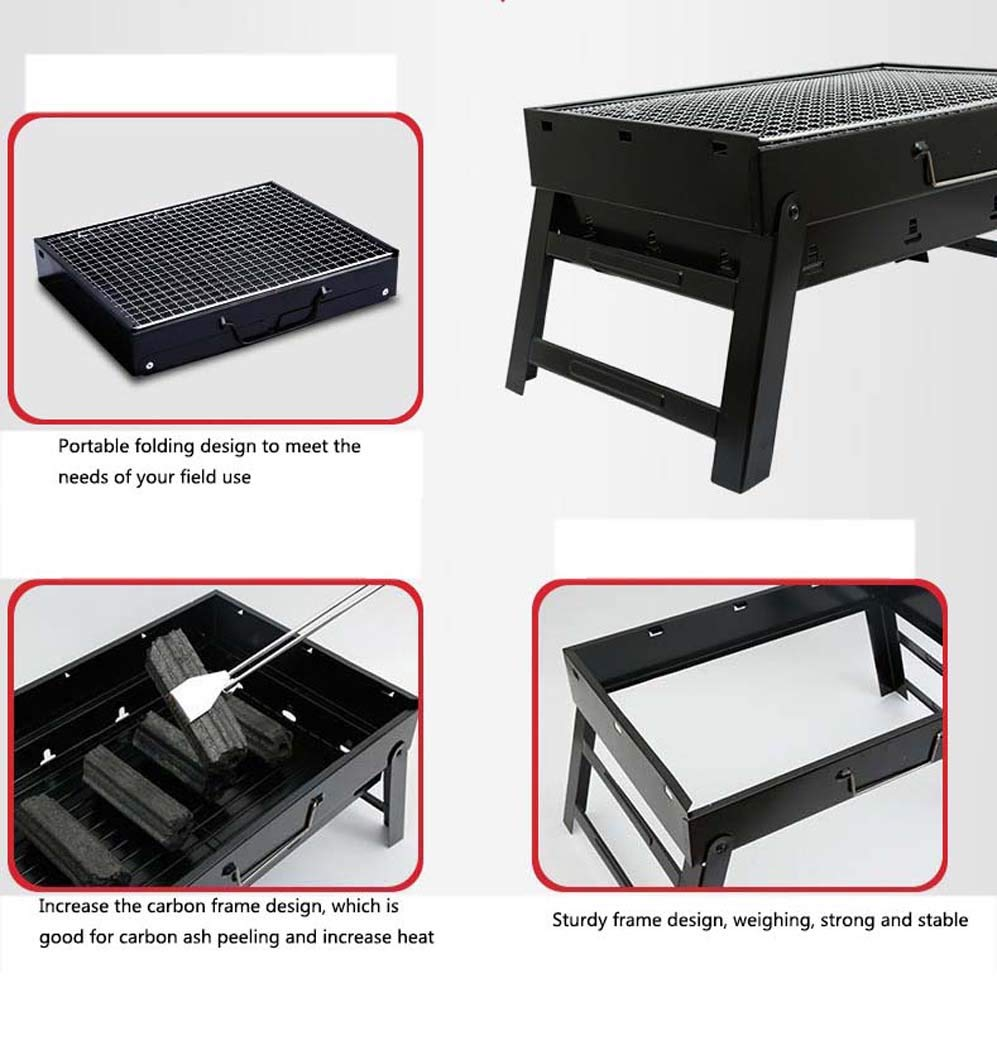 Amazon.com: DSHBB Barbecue Grill, Portable Charcoal Fire BBQ Stand,Indoor Grills & Griddles Portable Stand Camping Camping Grills Stoves: Home & Kitchen