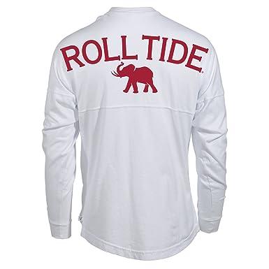 new style 34ce2 ce467 Official NCAA University of Alabama Crimson Tide UA ROLL TIDE! Women's Long  Sleeve Spirit Jersey T-Shirt