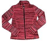 RBX Active Girl's Coral Pink Tiger Print Zip Up Fleece Jacket