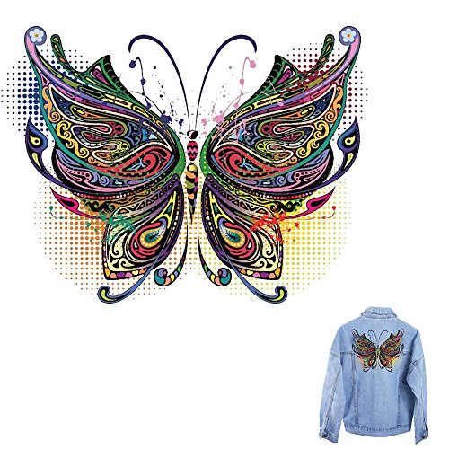 ( Orcbee  _Beautiful Patch T-Shirt Sweater Thermal Transfer Paper Patches Clothing DIY Decor (K))