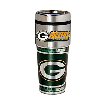 Amazon.com: Green Bay Packers 16oz. Acero inoxidable Travel ...