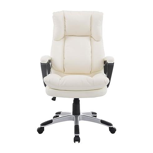Schreibtischstuhl holz höhenverstellbar  Homcom® Bürosessel Chefsessel Drehstuhl Bürostuhl ...
