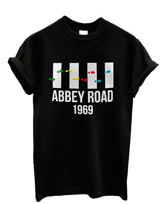 "LaMAGLIERIA Camiseta Hombre The Beatles - Abbey Road 1969"" - Camiseta Rock 100% Algodon"