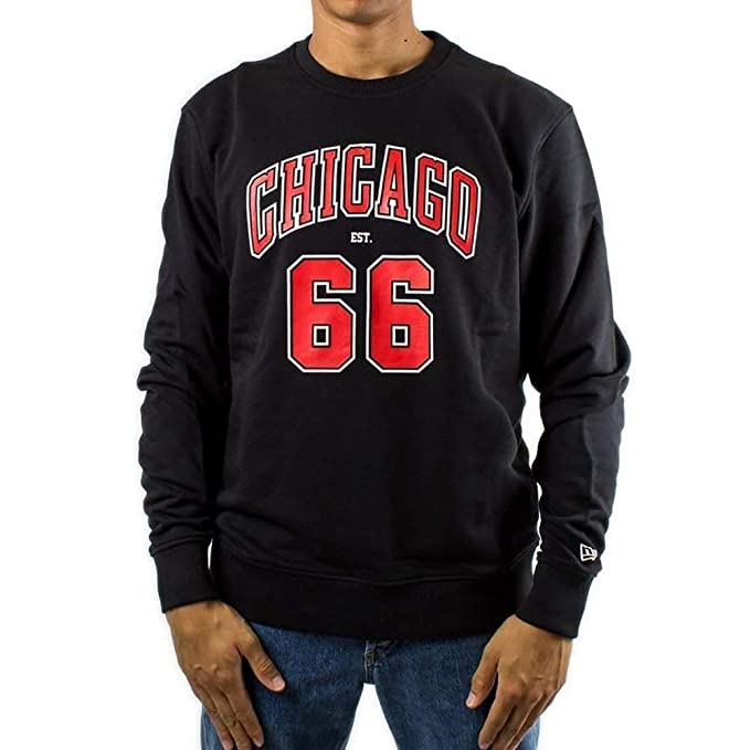 A NEW ERA Sudadera NBA Chicago Bulls Established Negro XL (X-Large)