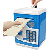 HUSAN Great Gift Toy for Kids Code Electronic Piggy Banks Mini ATM Electronic Coin Bank Box for Children Password Lock…