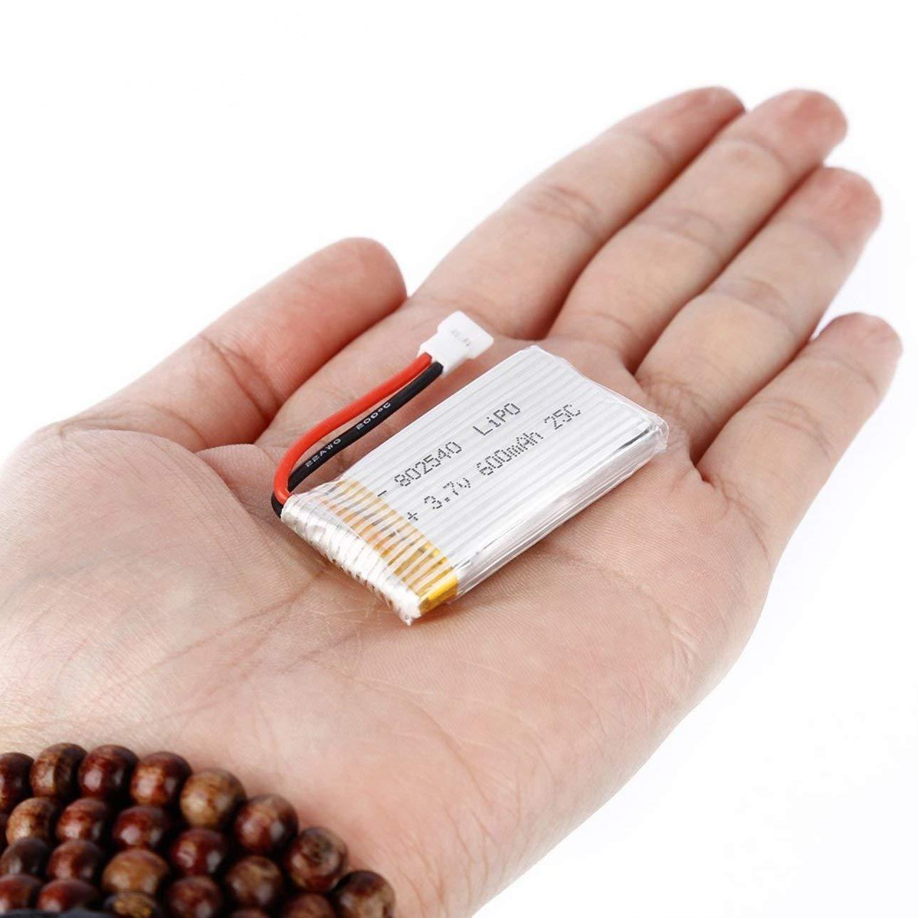 Celerhuak 3.7V 600mAh 25C Capacidad Lipo Bater/ía 802540 Molex 50005 Sin PVC Exquisitamente dise/ñado Duradero